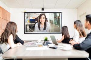 Videokonferenz im Besprechungsraum